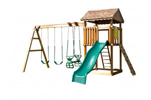 852-A 22 X 20 Wooden Swing Set