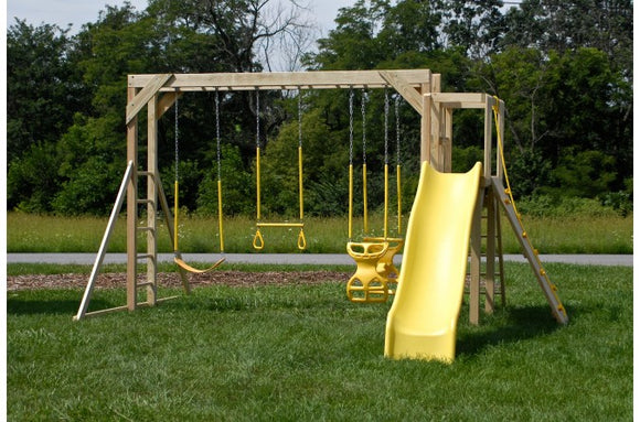 756-B 20 X 20 Wooden Swing Set