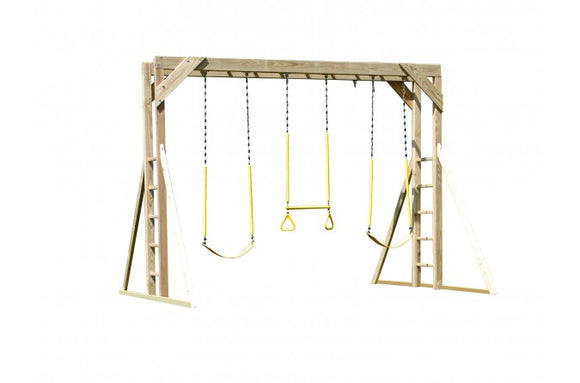 764-B 12 X 12 Wooden Swing Set
