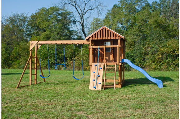 872-B 18 X 18 Wooden Swing Set