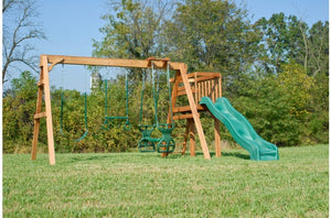 723-A 18 X 18 Wooden Swing Set
