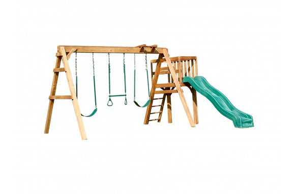 703-A 18 X 18 Wooden Swing Set
