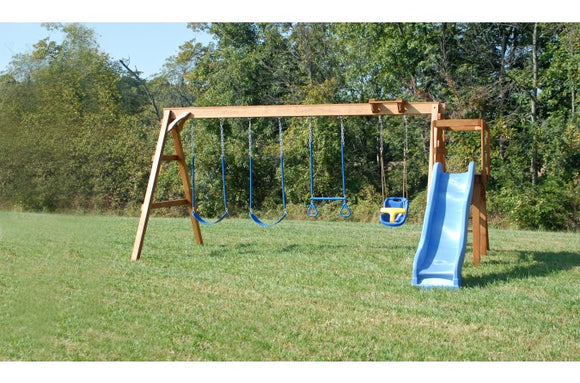 714-A 20 X 18 Wooden Swing Set