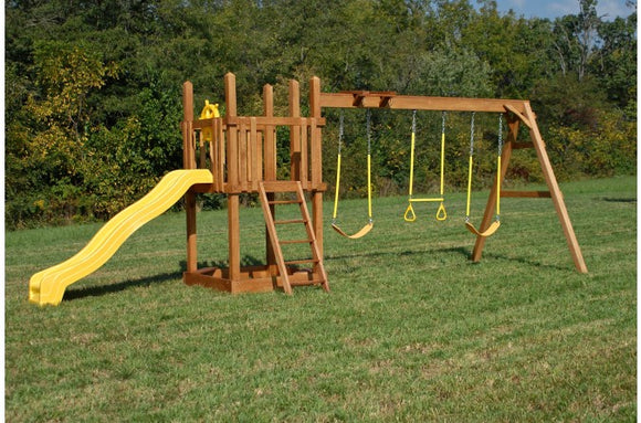 742-A 28 X 10 Wooden Swing Set