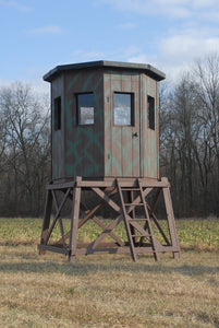 6' Octagon Wooden Hunting Blind