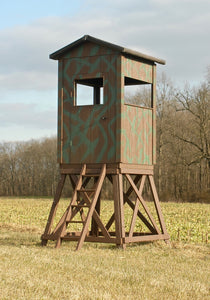 4X4 Wooden Hunting Blind