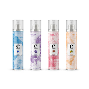 Cargo Body Mists World Collection (Set of 4)