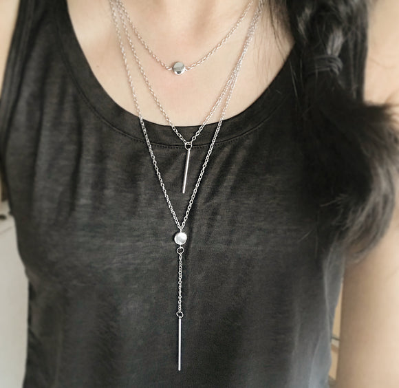 Marilyn Layered Lariat Necklace