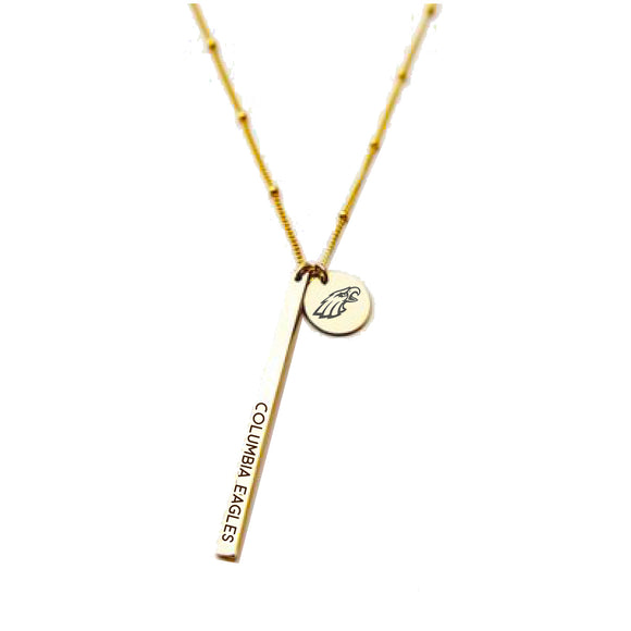 Columbia Eagles School Spirit Necklace - Gold