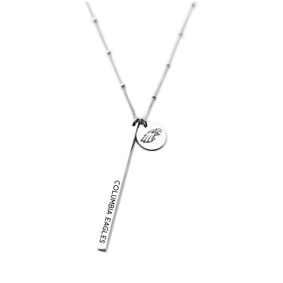Columbia Eagles School Spirit Necklace - White Gold
