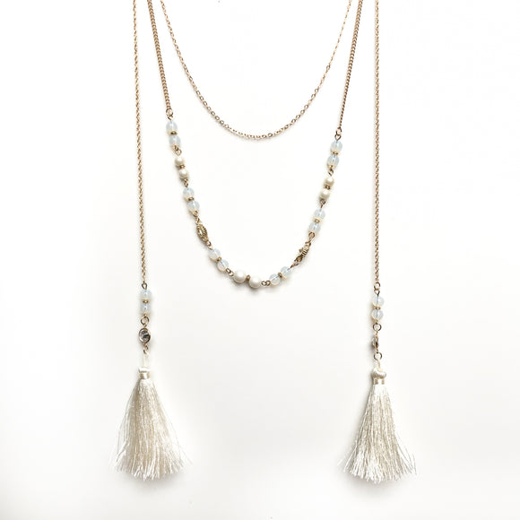 Layered Double Tassel Necklace
