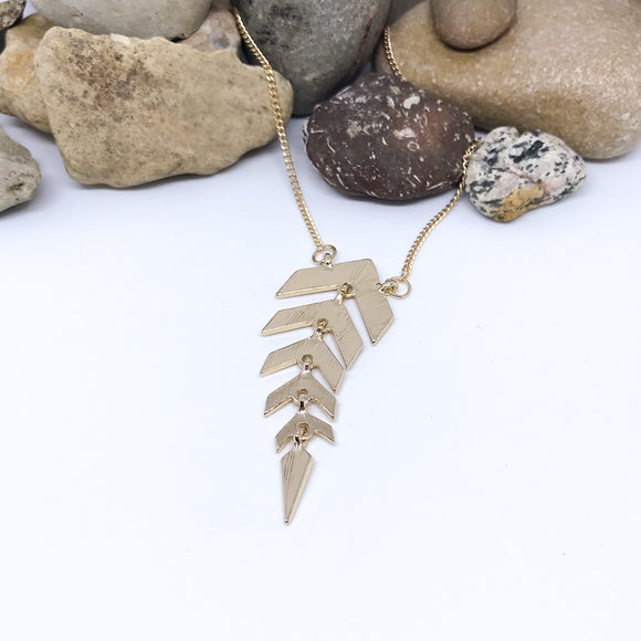 Fishbone Long Necklace