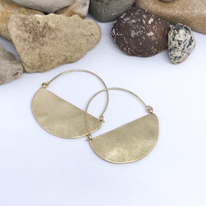 Golden Basket Hoop Earrings