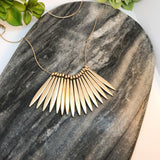 Golden Feathered Necklace