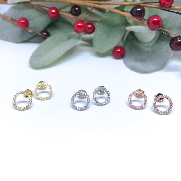 Halo Jeweled Studs