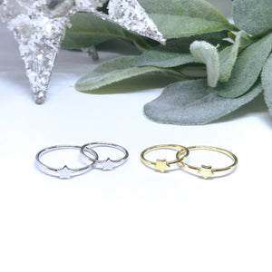 Wishing Star Mother & Daughter Ring