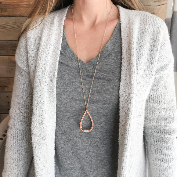 Open Teardrop Necklace