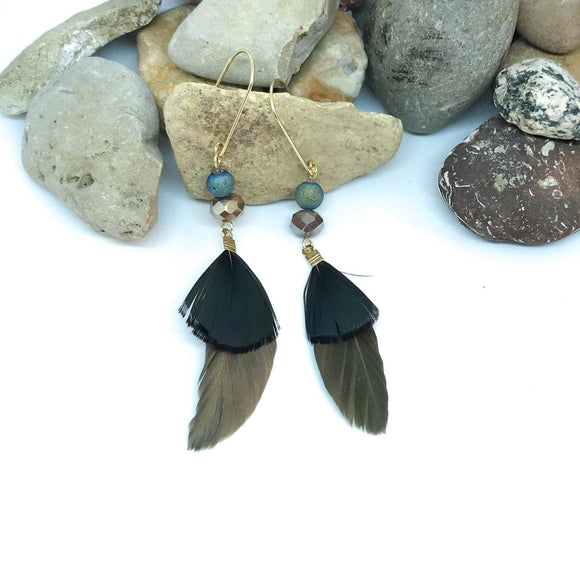 Starling Feather Earrings