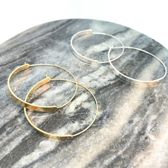 Transitional Hoop Earrings