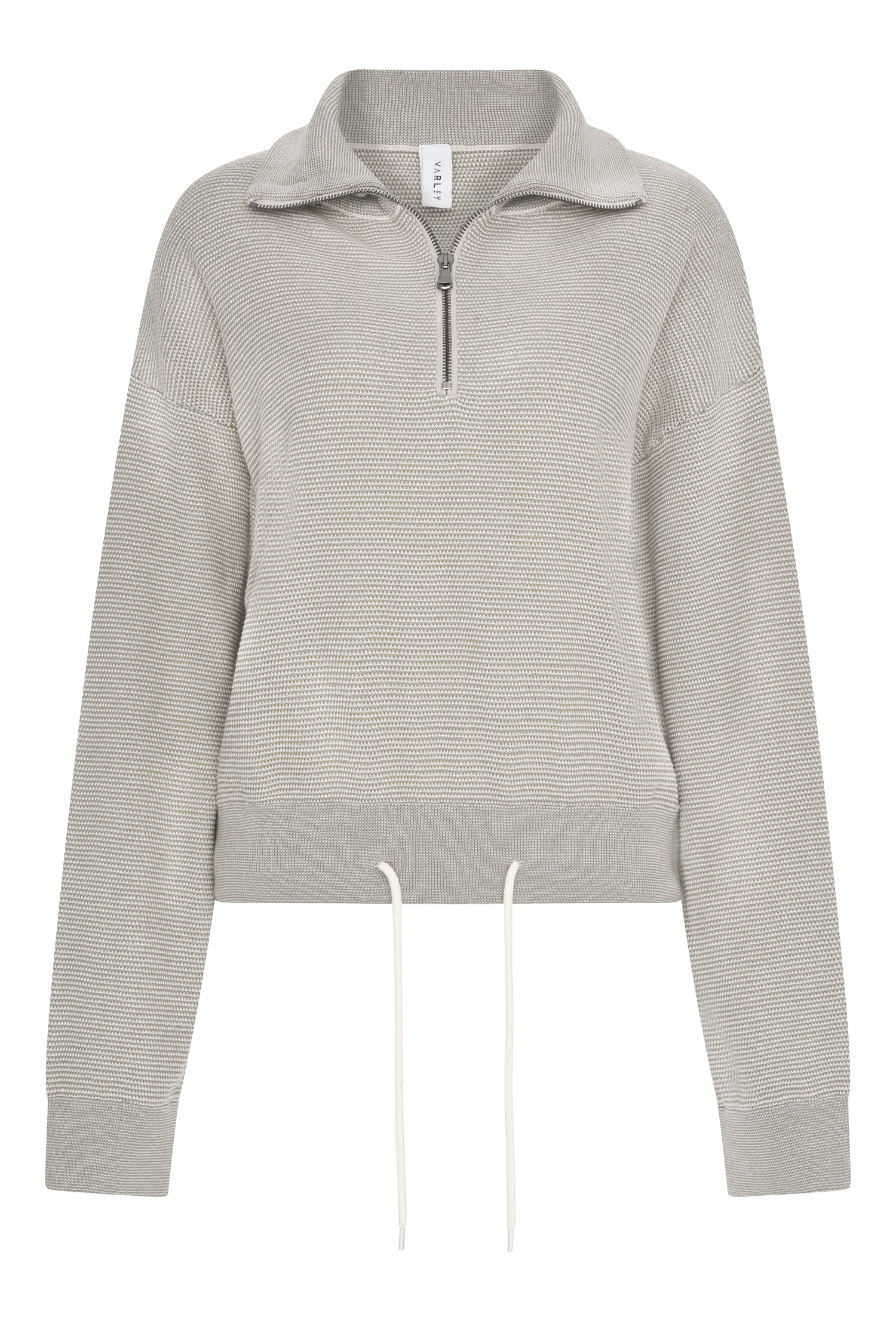 Buckingham Knit Half Zip | Cobweb Silver