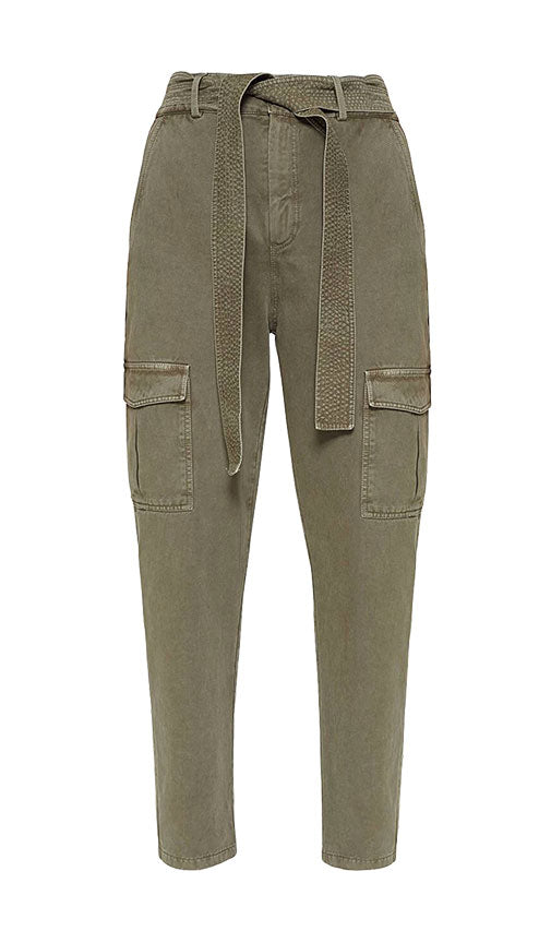 Anine Bing Kennedy Cargo Pant in Green