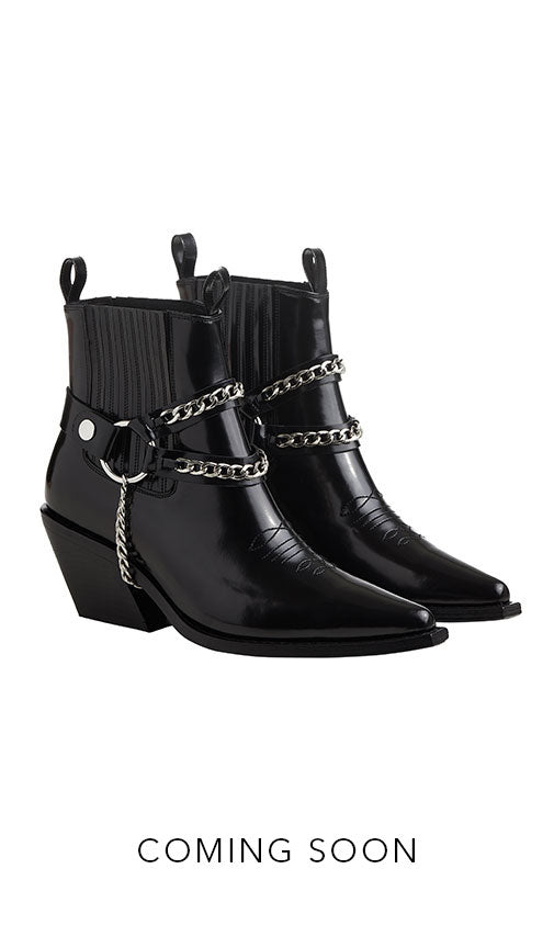 Anine Bing Wesley Boots in Black
