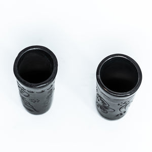 Black Clay Shot Glass