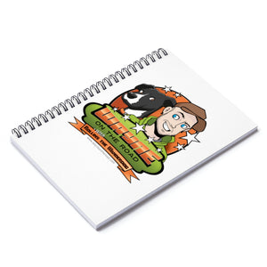 Wayne On The Road Cartoon Logo - Spiral Notebook