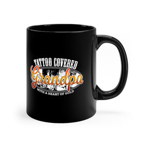 Tattoo Covered Grandpa with a Heart of Gold - 11oz Mug