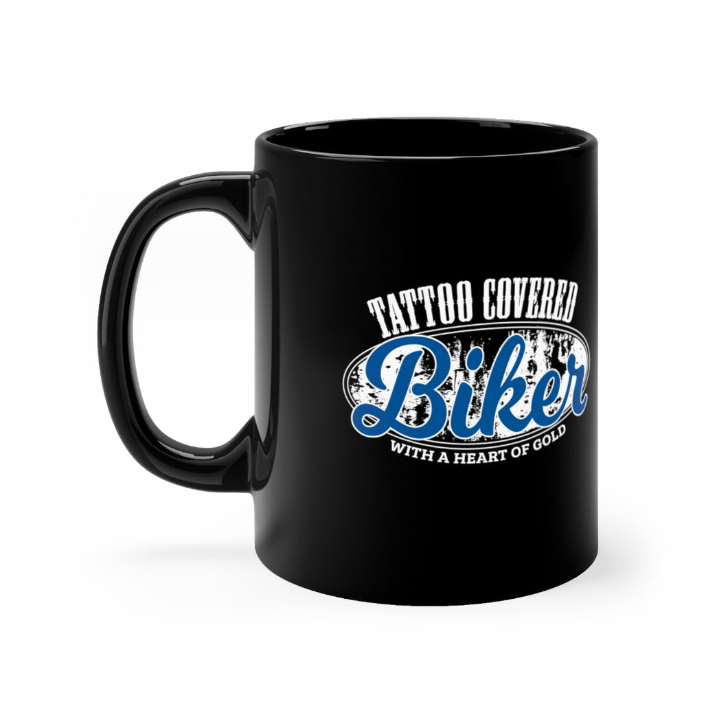Tattoo Covered Biker with a Heart of Gold - 11oz Mug