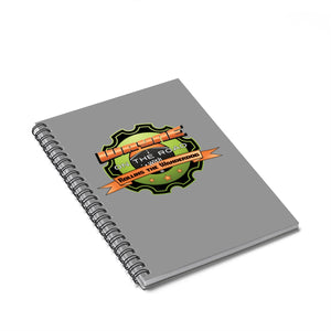 Wayne On The Road Badge - Spiral Notebook