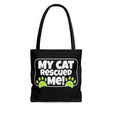 Load image into Gallery viewer, My Cat Rescued ME! - Tote Bag