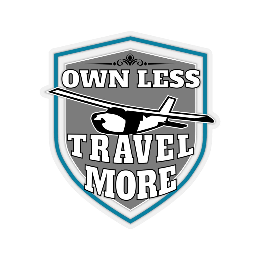 Own Less, Travel More - Sticker