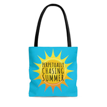 Load image into Gallery viewer, Perpetually Chasing Summer - Tote Bag