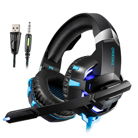 K2 LED Stereo Gaming Headset - XBOX/PS4/PC/MOBILE - Gamerz Swag