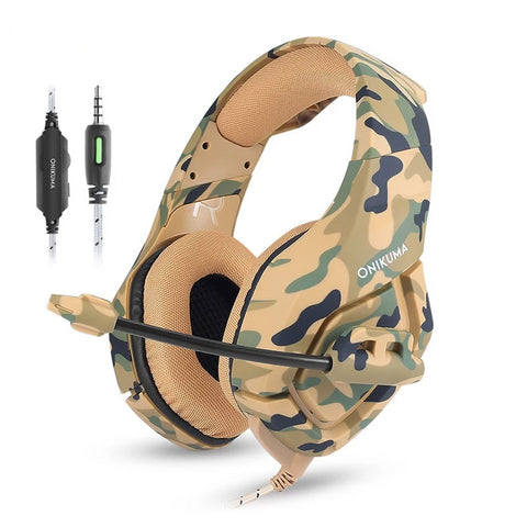 K1 Camouflage Surround Sound Gaming Headset with Mic - PS4/XBOX/PC/MOBILE - Gamerz Swag