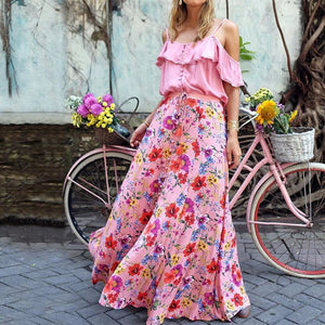 10 Pink Floral Maxi Dress Suggestions of Friendly Budget