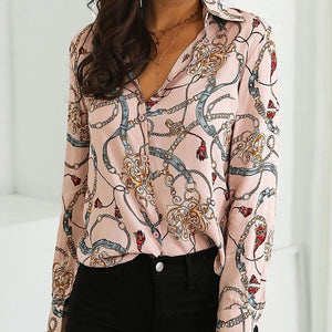 20+ Geometrical Printed Silk Shirt for Early Fall