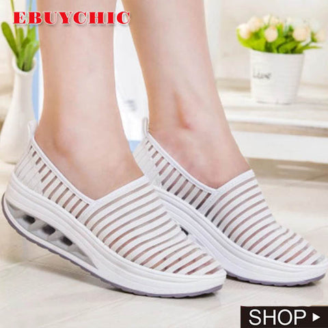 Hollow Round Toe Slip On Sneakers