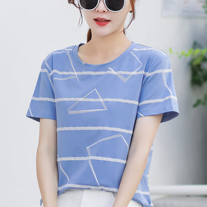 Summer 2020 New Korean Style Loose Women's Short Sleeve T-Shirt