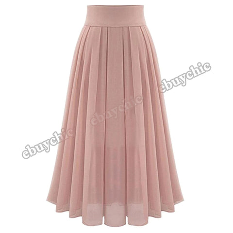 Women's Sexy Party Chiffion High Waist Lace-up Hip Long Pleated Tulle Casual Skirt