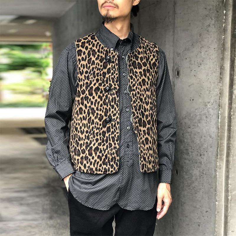 Fashion Leopard Print Single-Breasted Vest