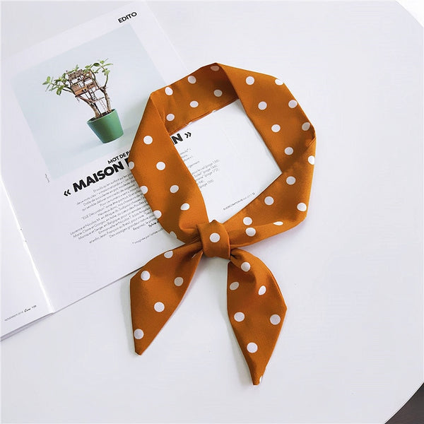 Small Scarf National Wind Flower Wild Family Headdress Hair Band Small Scarves Spring and Summer