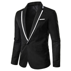2020 New Korean Men Blazer Casual Slim Fit Office Suit Autumn Winter Jacket Coat Formal Masculina Blazer Men's Business Blazers