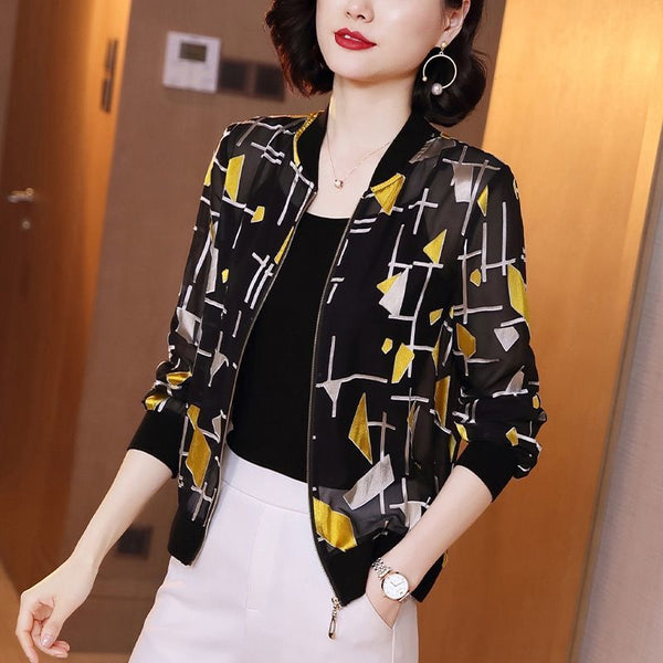 2020 New Spring Autumn Middle Age Women Bomber Baseball Jacket Female Sun Protect Coat Outwear Jackets