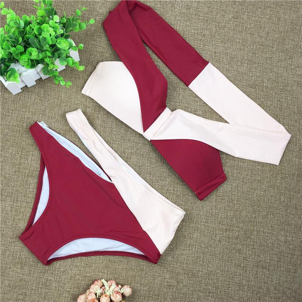 Female Sexy European And American Split Body Swimming Suit