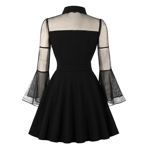 Plain Plus Size Casual Skater Dress