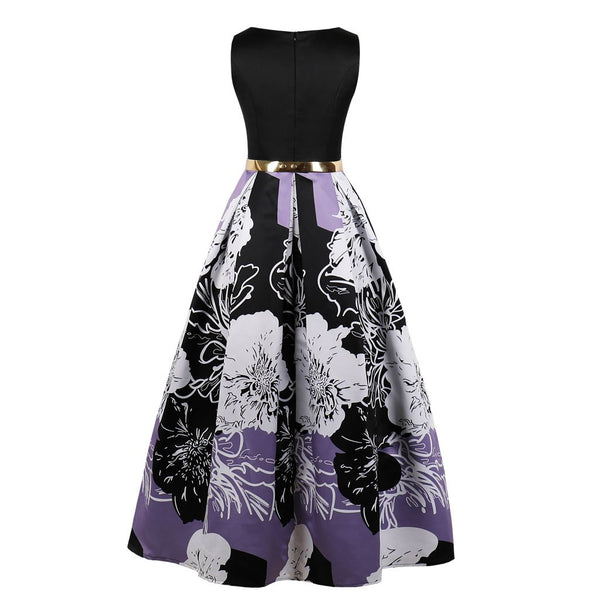 Women Printed Sleeveless Evening Dress