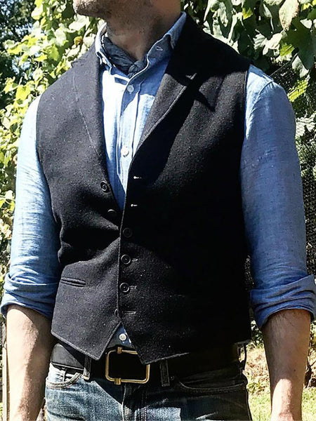 Casual Slim Single-Breasted Lapel Vest