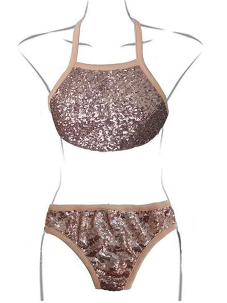 Sequin Sexy Split Swimsuit